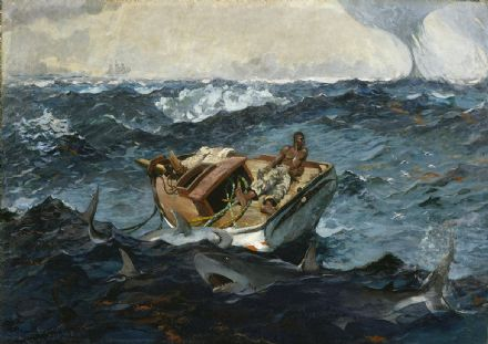 Homer, Winslow: The Gulf Stream. Nautical/Marine/Fishing Fine Art Print.  (003464)